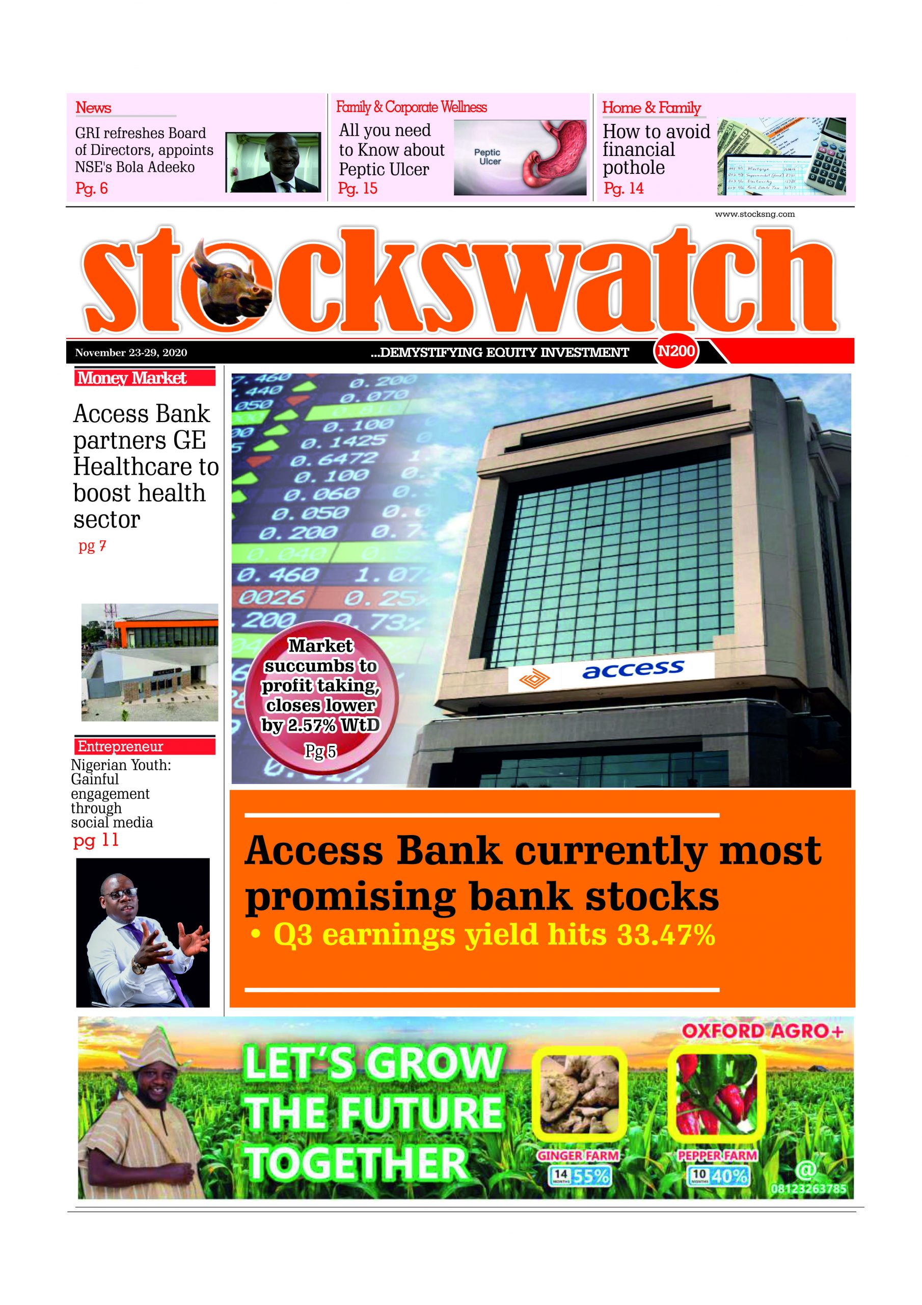 Stockswatch, November 23-29, 2020