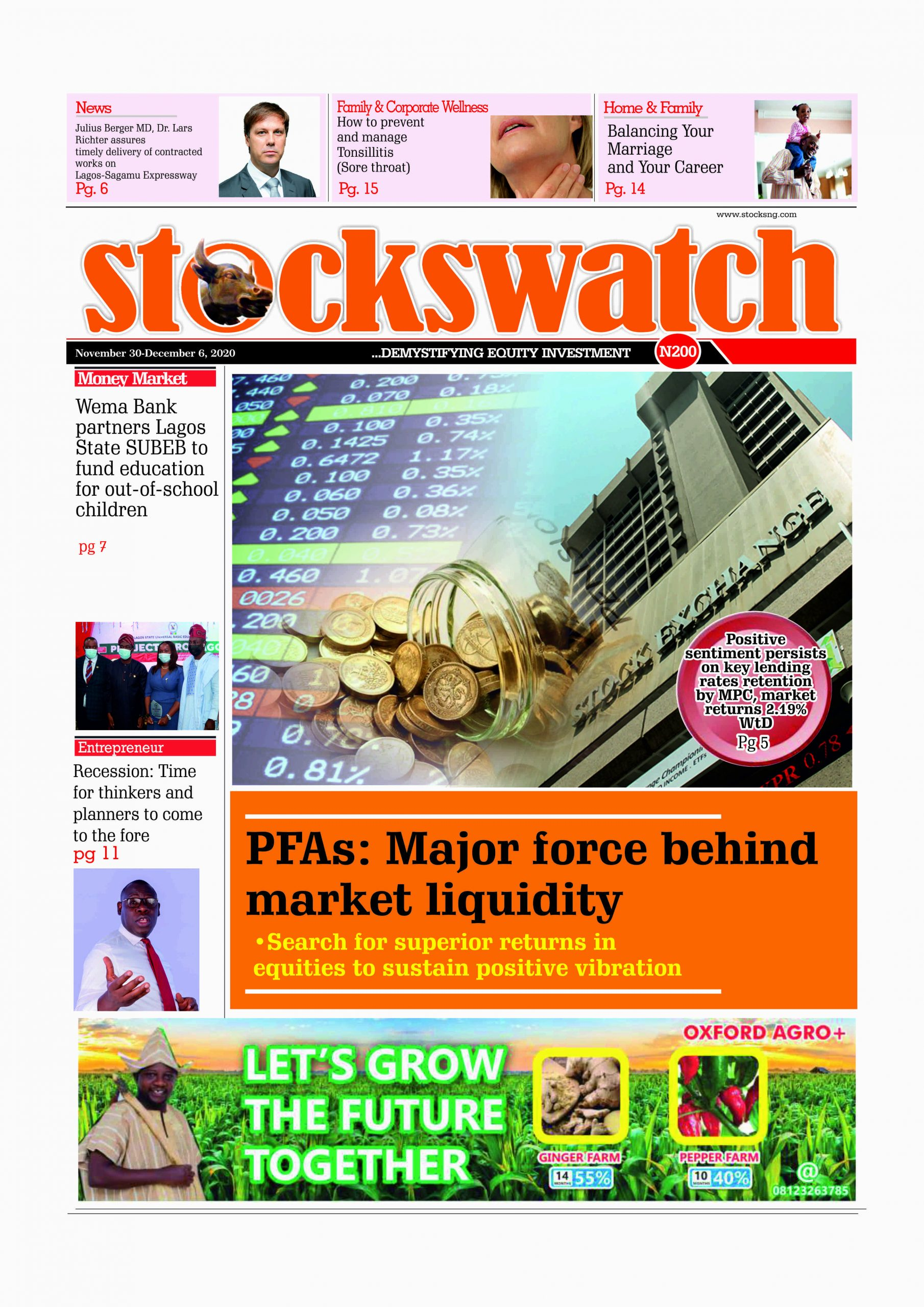 Stockswatch, November 30-December 6, 2020