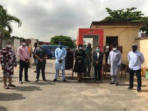 Spaarcon Construction Nigeria Limited Donates Automatic Disinfection Chamber to Lagos State Government